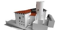 Rekonstrukce středověkého hradu v Katalánsku